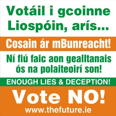 Poster: Vote NO to Lisbon Treaty