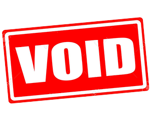 Recovery of Void Properties!