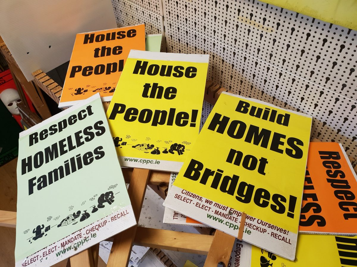 Housing Protest outside City Hall, Cork